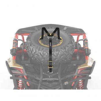 Cinghie di ancoraggio per ruota di scorta con cricchetto