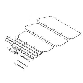 Deflettore in gomma per sgombraneve Alpine Flex da 137 cm